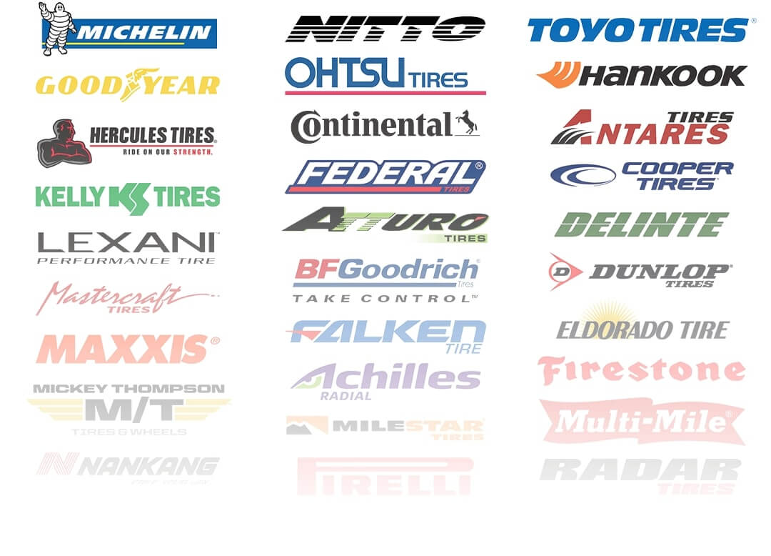 Tire brand logos for mobile view