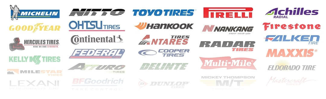 Tire brand logos for desktop view